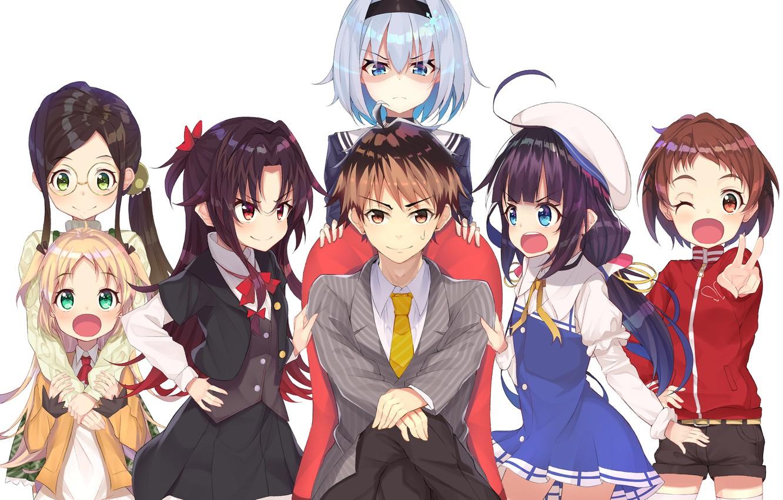 Photo wallpaper girls, anime, art, guy, characters