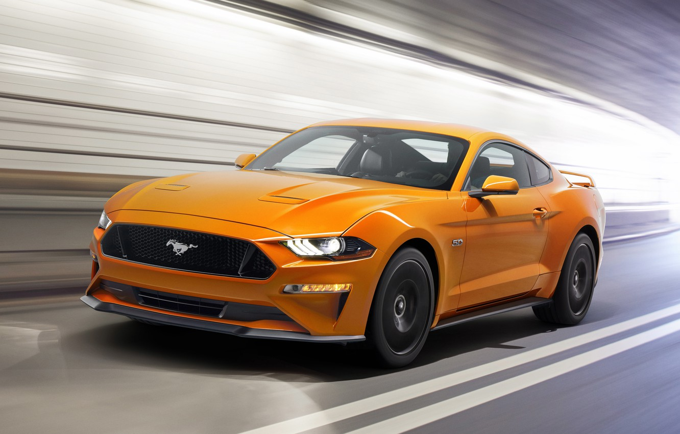 Photo wallpaper Mustang, Ford, Speed, Fastback, 2017