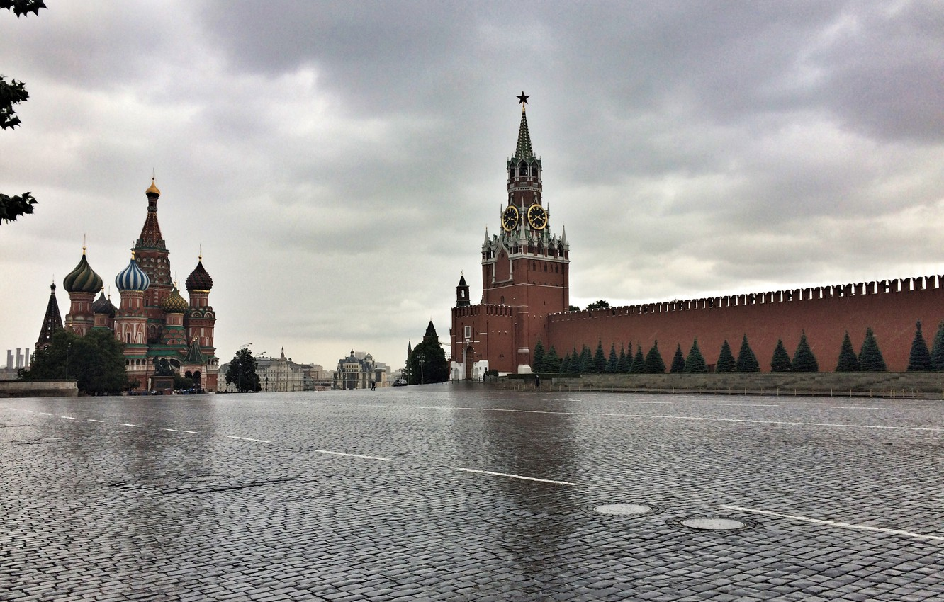 Photo wallpaper Moscow, the Kremlin, Russia, Red square, Moscow