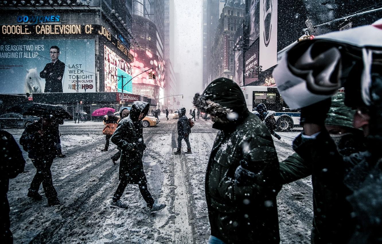 Photo wallpaper the city, Winter, New York, USA, USA, New York, manhattan