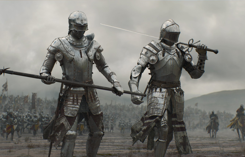 Photo wallpaper sword, armor, weapon, war, man, army, fight, ken, blade, horse, warrior, knight, spear, combat, honor