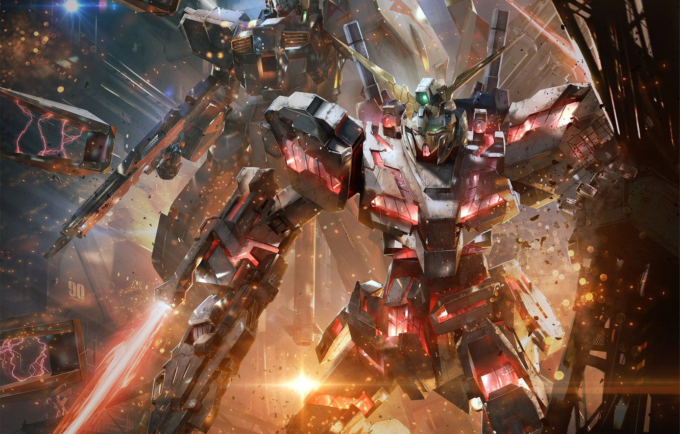 Wallpaper Gundam Versus Fire Robot Blade Mecha Gundam War