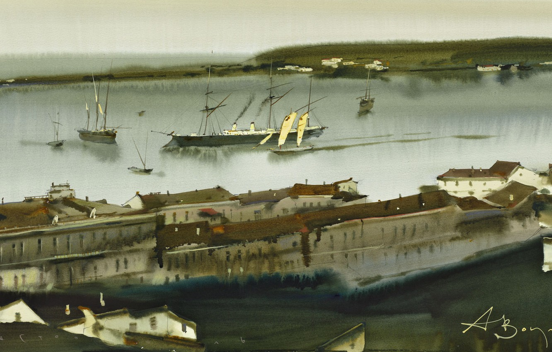 Photo wallpaper ships, panorama, marine city, Sevastopol., Arusha Vozmus