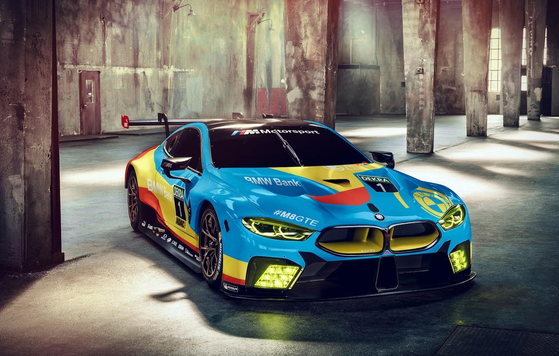 Photo wallpaper racing car, 2018, GTE, BMW M8