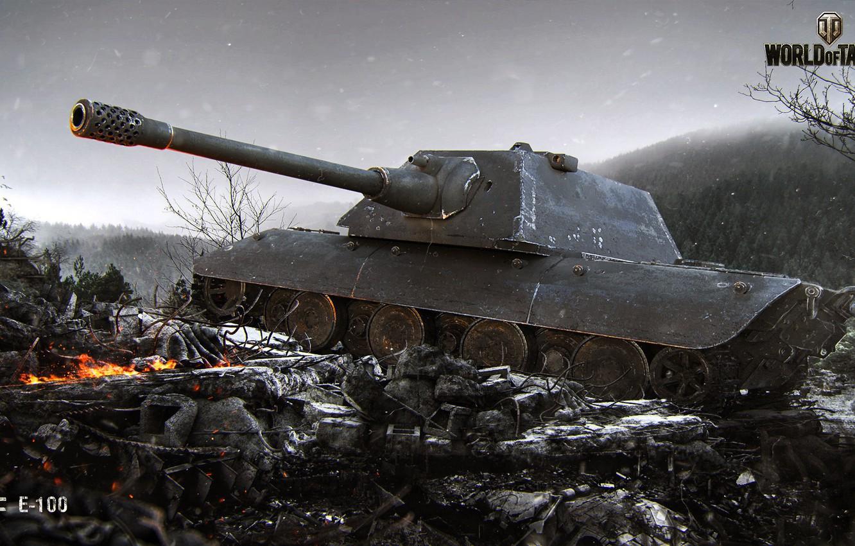 Photo wallpaper World of Tanks, E 100, Cadaver Frio