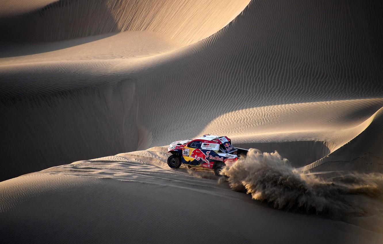 Photo wallpaper Sand, Auto, Sport, Machine, Speed, Race, Toyota, Hilux, Rally, Dakar, Dakar, SUV, Rally, Sport, Toyota, …