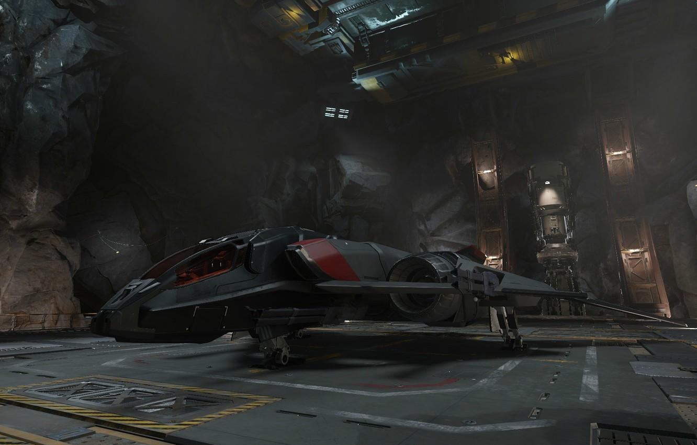 Photo wallpaper starship, Sabre, Star Citizen