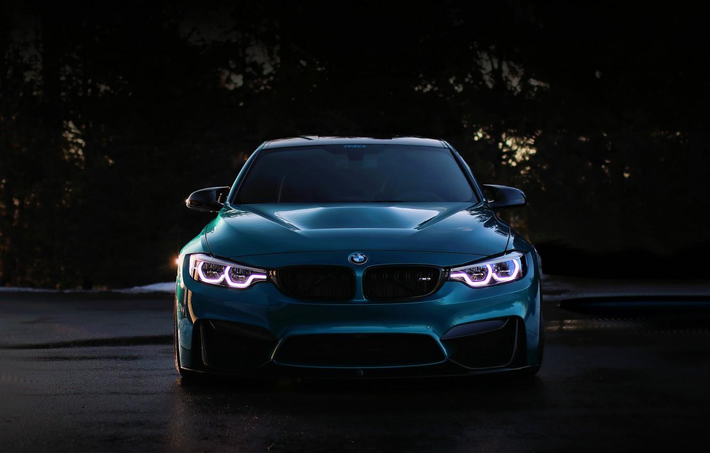 Photo wallpaper BMW, Blue, Predator, F80, Sight, LED