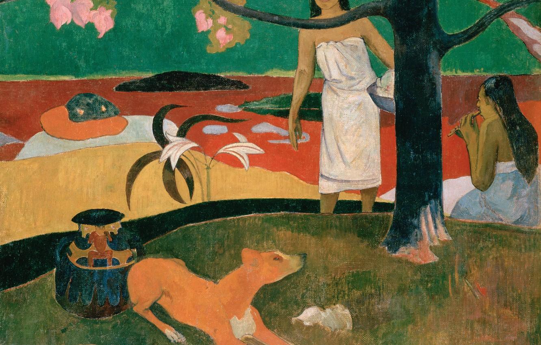Photo wallpaper picture, genre, Paul Gauguin, Eugene Henri Paul Gauguin, Tahitian Pastorals