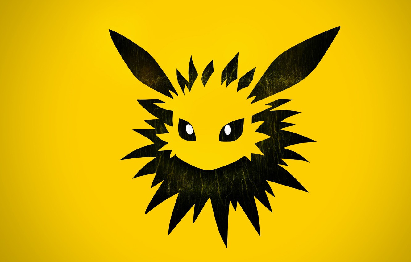 Photo wallpaper eyes, needle, element, ears, eyes, Pokemon, electric, electric, pokemon, Jolteon, Jolteon