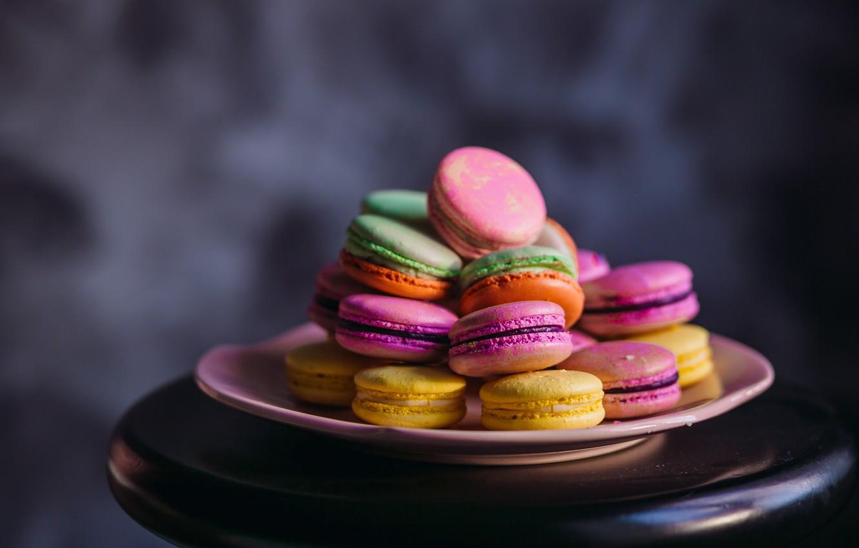 Photo wallpaper color, colorful, cookies, rainbow, dessert, sweet, cookies, macaron, almond, macaroon