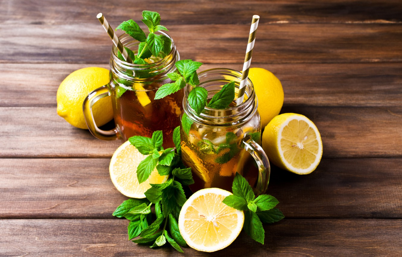 Wallpaper Lemon Tea Lemon Drink Mugs Mint Drink Cocktail