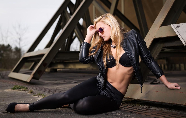 Photo wallpaper girl, background, Svenja