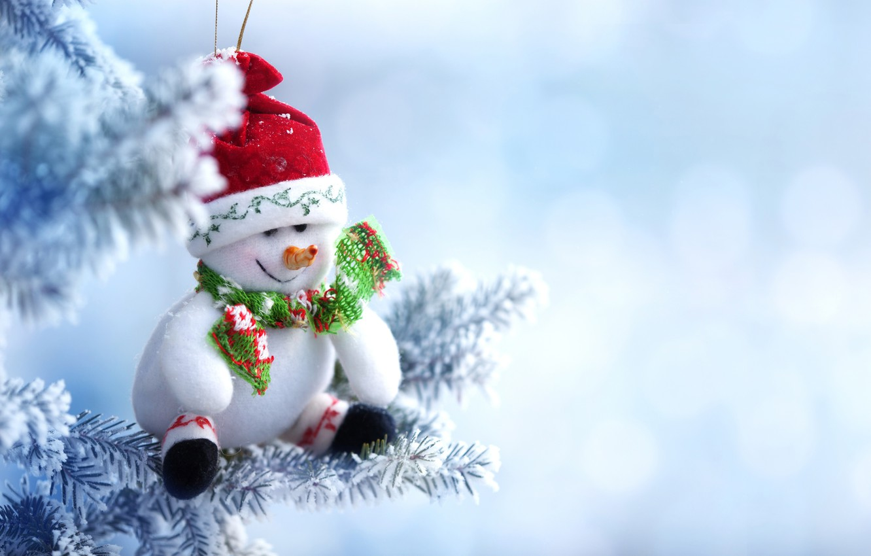 Photo wallpaper winter, snow, toy, tree, New Year, Christmas, snowman, Christmas, winter, snow, Merry Christmas, Xmas, snowman, …
