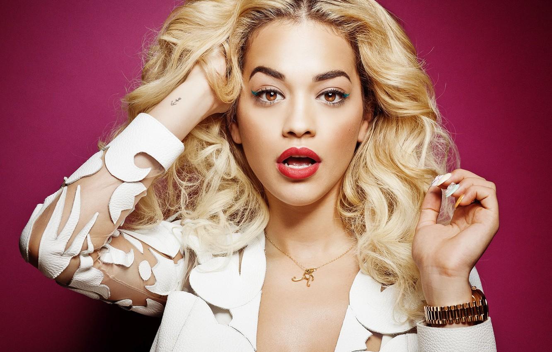 Photo wallpaper look, singer, Rita Ora