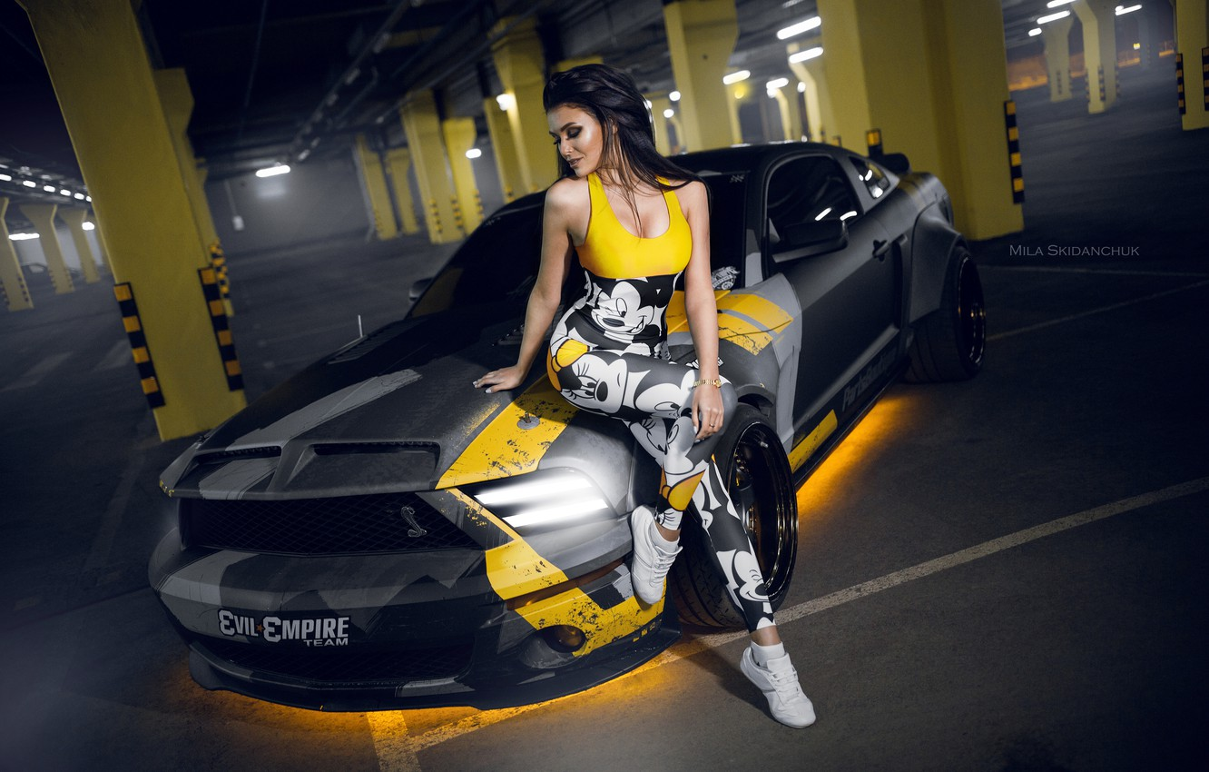 Wallpaper Car Machine Auto Girl City Fog Race Mustang Mustang Brunette Car Girl Sports Car Camouflage Car Need For Speed Images For Desktop Section Devushki Download