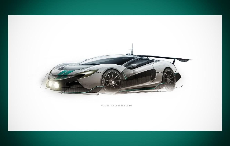 Photo wallpaper Auto, Figure, Frame, Machine, Car, Car, Art, Art, Supercar, Rendering, Mclaren, Yasid Design, Yasid Oozeear, …