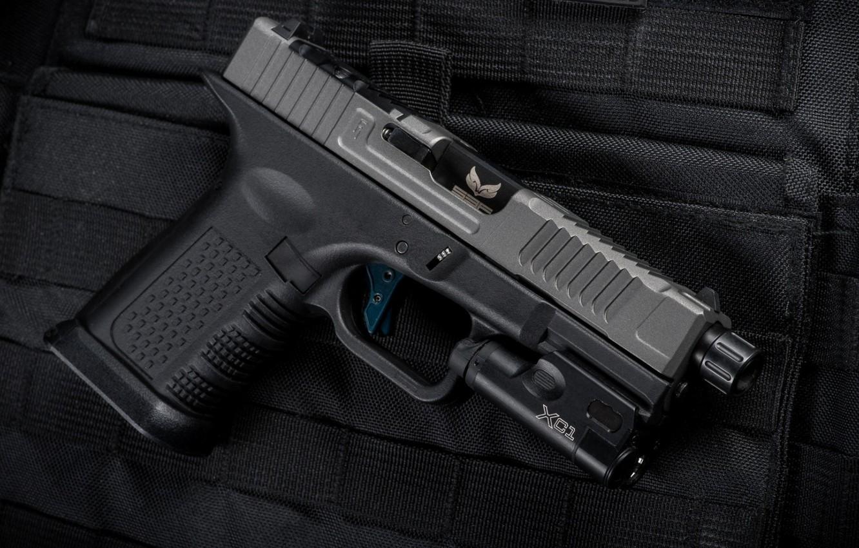 Photo wallpaper gun, weapons, gun, pistol, weapon, Glock, Glock, custom, SBF custom
