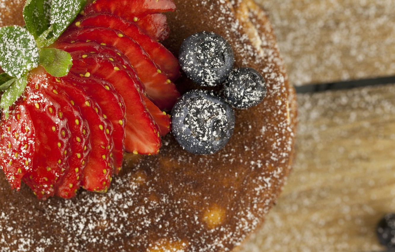 Photo wallpaper berries, Strawberry, Sweets, pancakes, Strawberry
