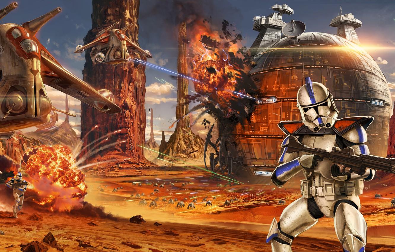 Wallpaper Art Soldiers Jude Smith Battle Clones The Battle