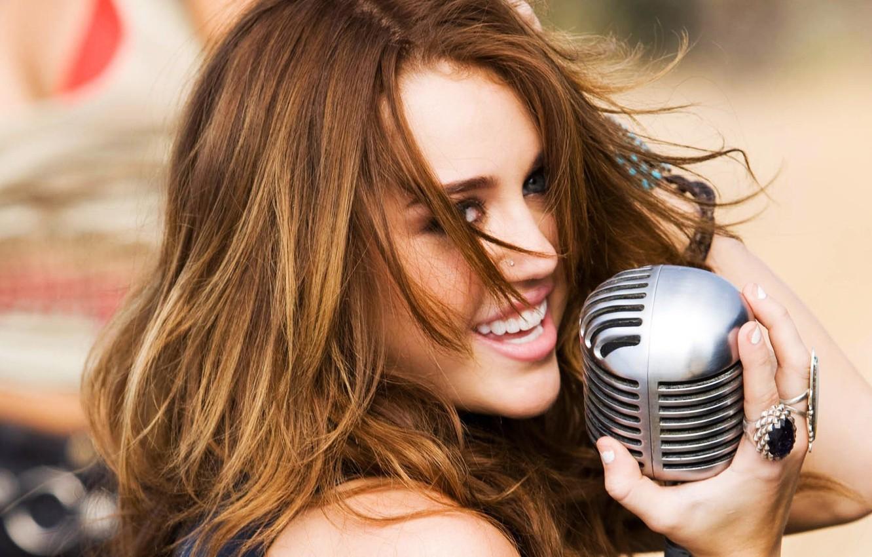 Photo wallpaper Music, microphone, Miley Cyrus, Miley Cyrus, Pop