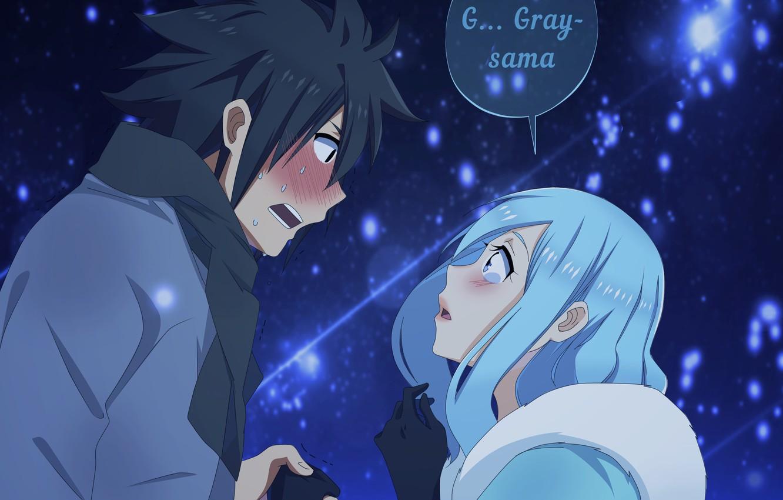 Wallpaper Romance Anime Art Pair Fairy Tail Grey Juvia
