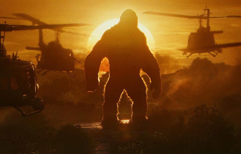 Photo wallpaper cinema, army, movie, gorilla, film, strong, Kong: Skull Island, Skull Island, King Kong: