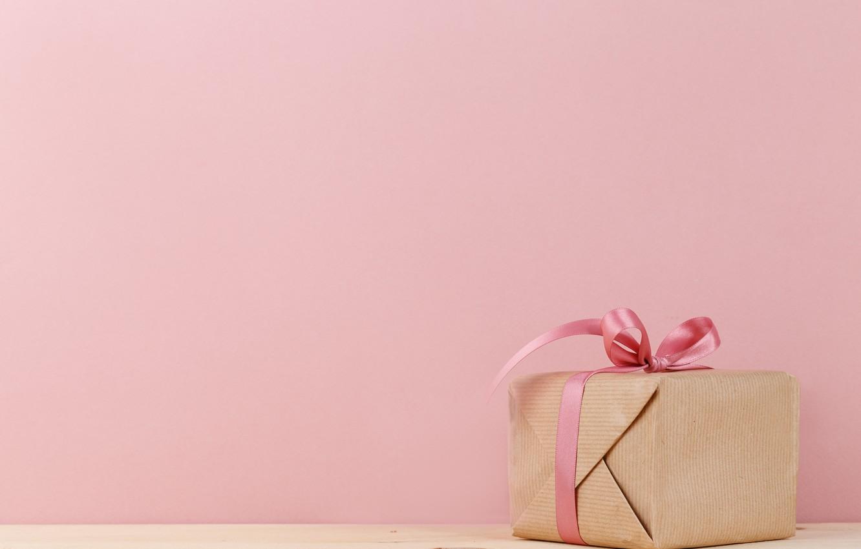 Photo wallpaper gift, Holiday, bow