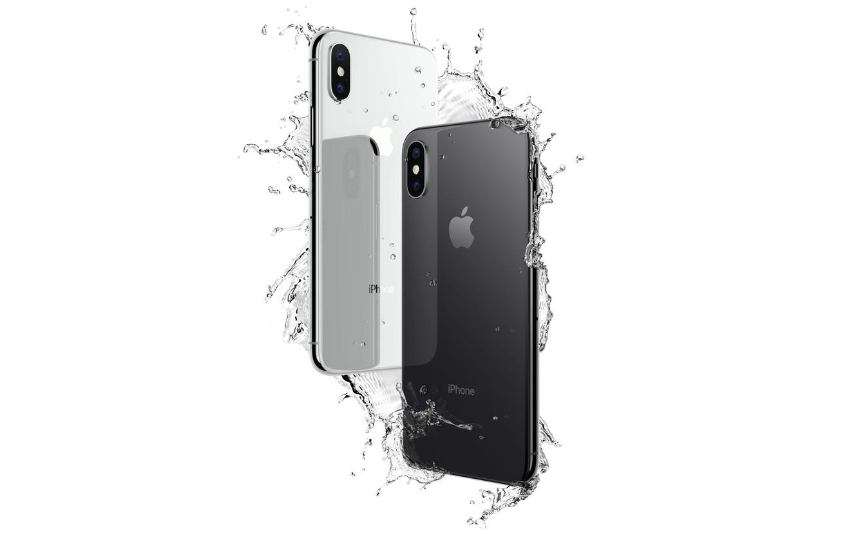 Photo wallpaper Apple, iPhone, logo, hi-tech, smartphone, technology, iPhone X
