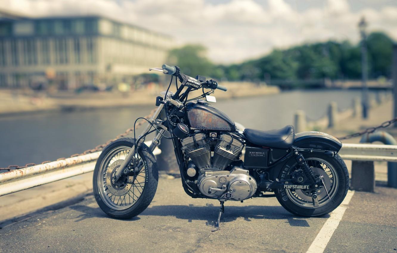 Photo wallpaper style, motorcycle, bike