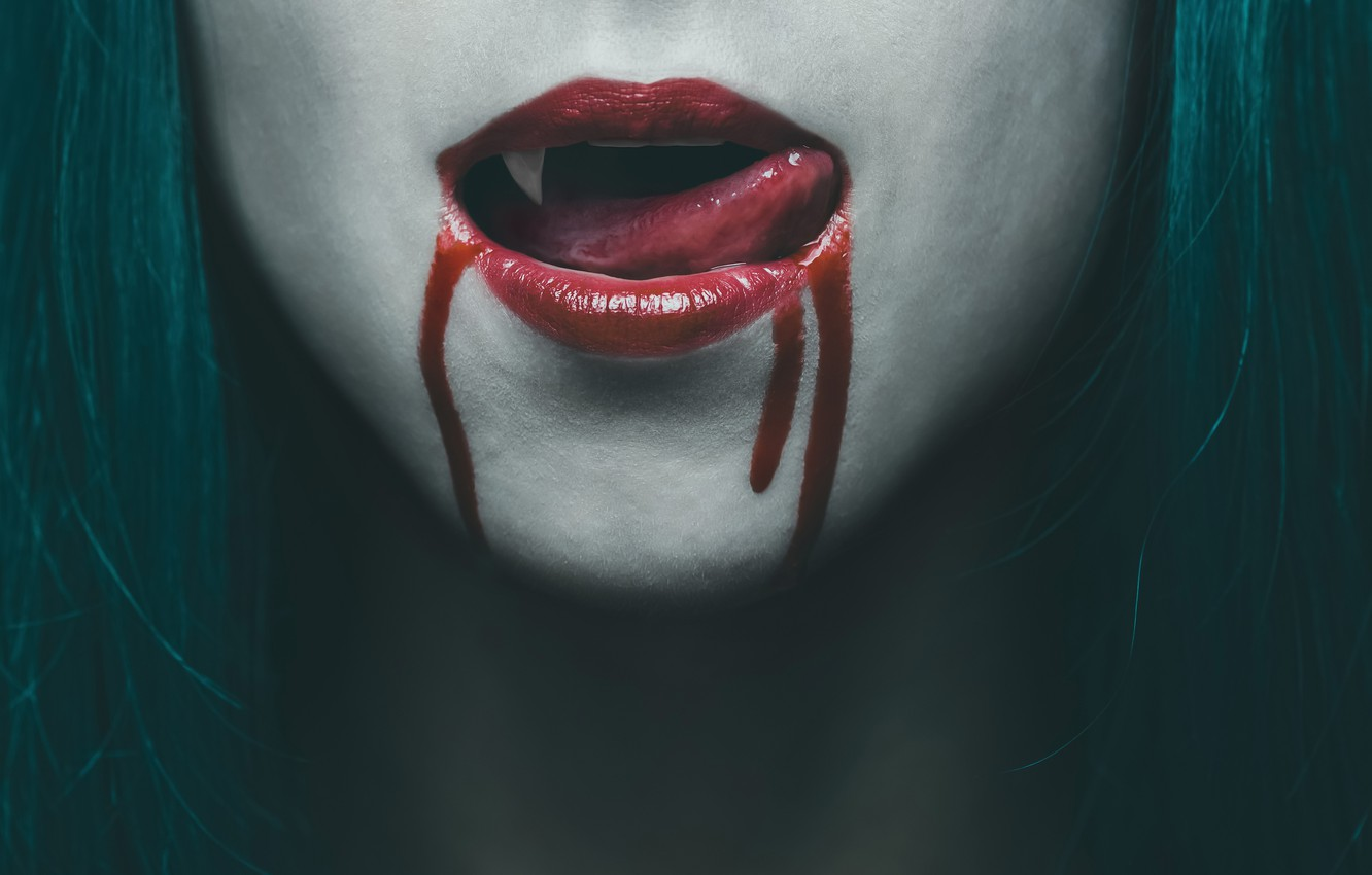 Taller de España Nocturno 5ª edición Tongue-vampire-woman-blood-lips