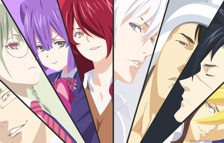 Photo wallpaper collage, anime, characters, Shokugeki No Soma