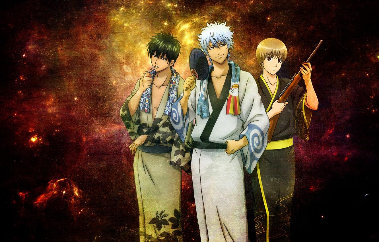 Photo wallpaper anime, gintama, sakata gintoki, Gintama, gintoki, hijikata toshiro, okita sougo, gintoki and hijikata, Okita Sogo, …