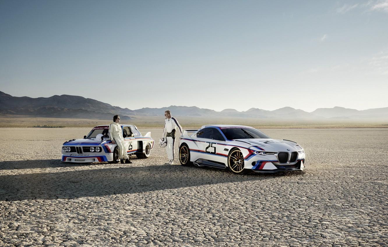Photo wallpaper Concept, Auto, Desert, Machine, BMW, Men, Hommage, Drivers, Bavarian, BMW 3.0 CSL, Hommage R, BMW …