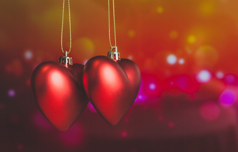 Photo wallpaper hearts, red, love, romantic, hearts, bokeh, Valentine's Day