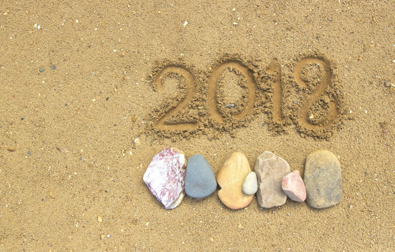 Photo wallpaper sand, beach, stones, background, new year, beach, stone, texture, sand, 2018, pebbles