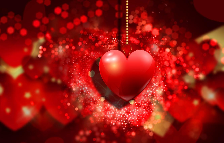 Wallpaper Hearts Red Love Background Romantic Hearts Bokeh