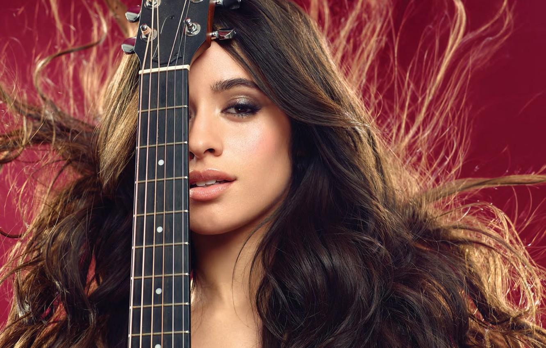Photo wallpaper guitar, singer, Camila Hair