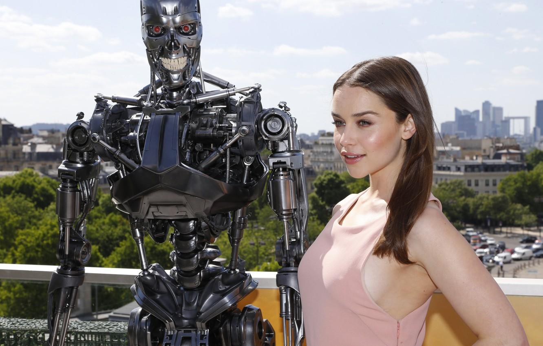 Photo wallpaper robot, actress, Emilia Clarke, Emilia Clarke