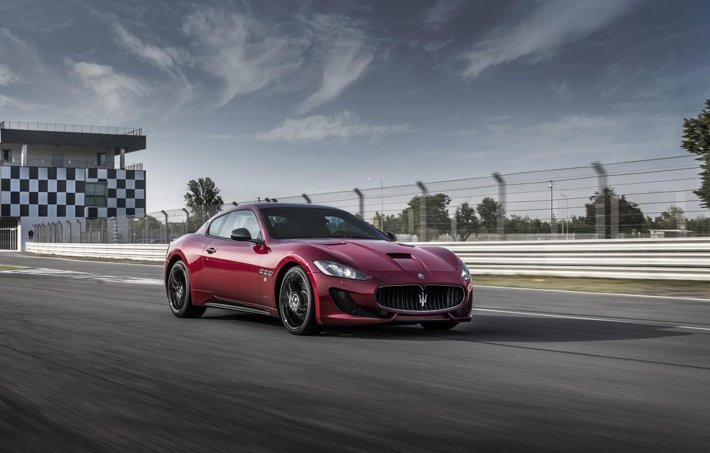 Photo wallpaper Maserati, Car, GranTurismo, Sport, Burgundy, Special Edition, 2017, Metallic