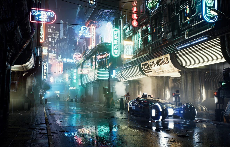 Photo wallpaper Render, Fan art, Unreal Engine 4, Blade Runner