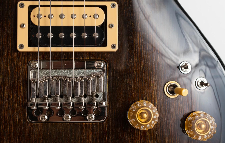 Photo wallpaper macro, guitar, Cardinal Series, Aria Pro II CS-400