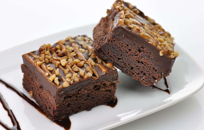 Photo wallpaper cake, nuts, dessert, cakes, chocolate, Chocolate, dessert, Nutty