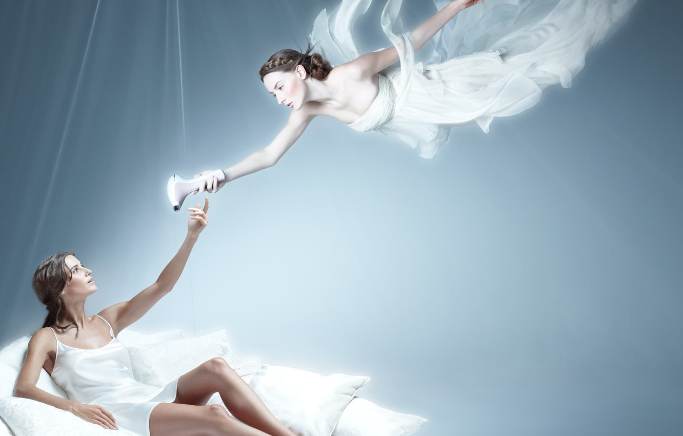 Photo wallpaper girl, feet, Christophe Gilbert, philips lumea, The device
