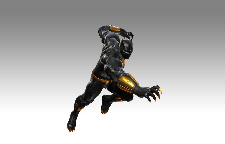 Photo wallpaper game, fighting, DLC, Black Panther, T`Challa, Walkanda, Marvel vs. Capcom: Infinite