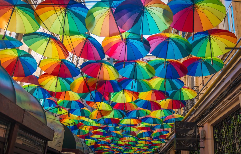 Photo wallpaper Umbrella, Romania, Romania, Umbrellas, Bucharest, Bucharest