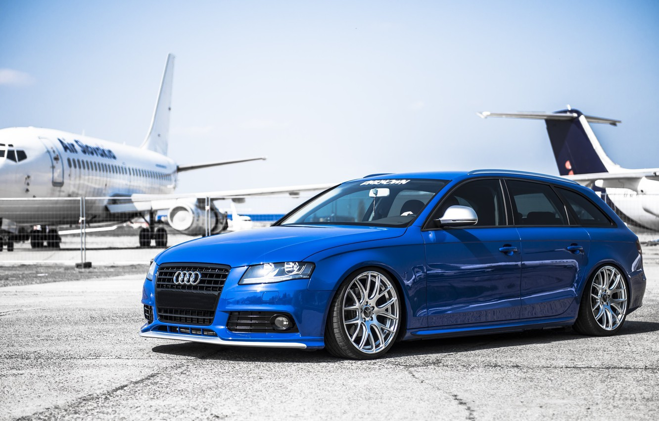 Photo wallpaper car, tuning, airplanes, stance, audi a4, before