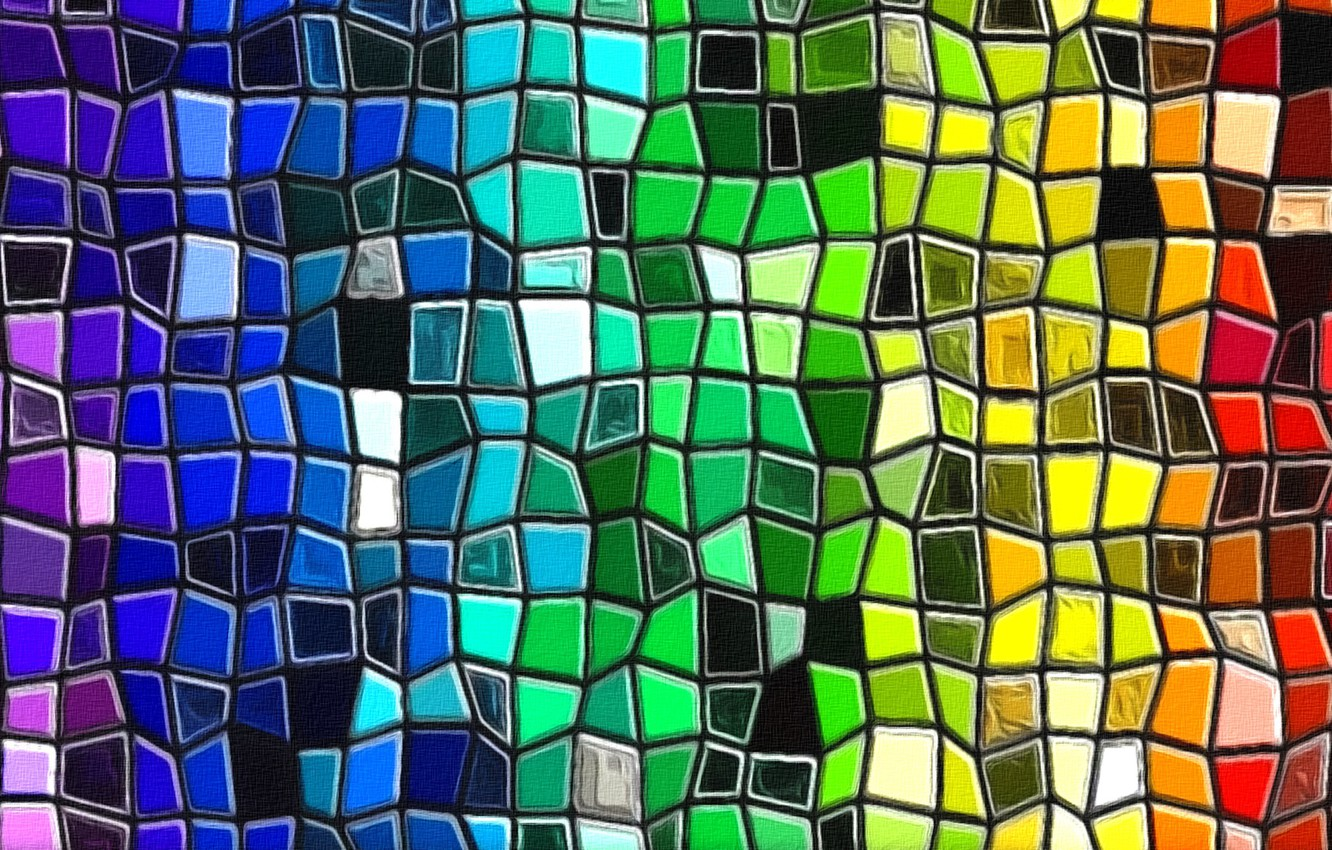 Photo wallpaper abstraction, figure, range, texture, cardboard, the colors of the rainbow, acrylic paint