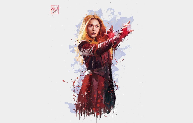 Photo wallpaper background, actress, art, gesture, character, Avengers: Infinity War, the Avengers: infinity war
