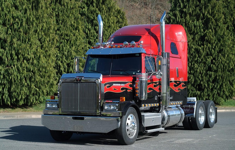 Photo wallpaper Truck, Grain, Western Star, 4900